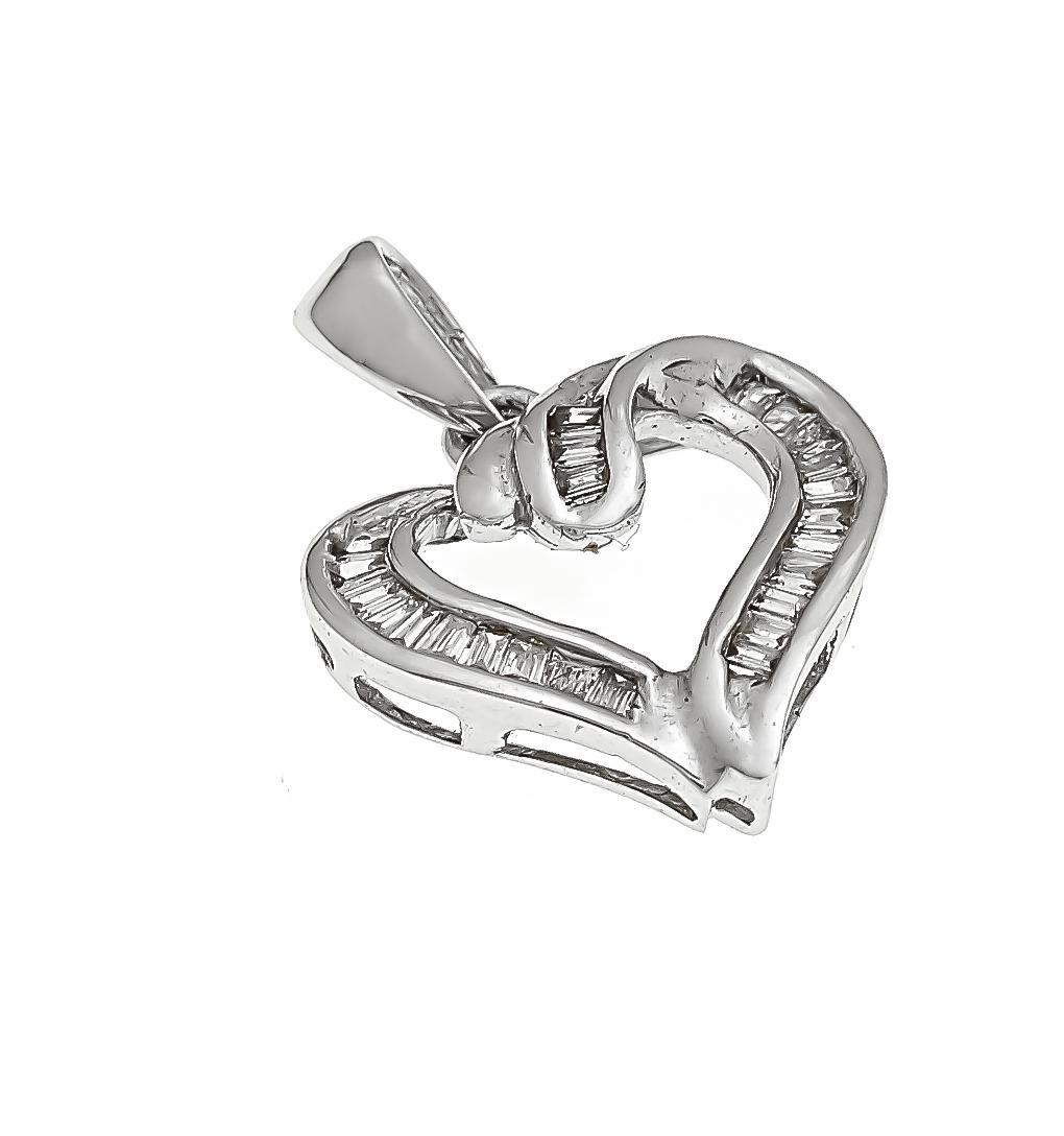 Diamond pendant heart WG