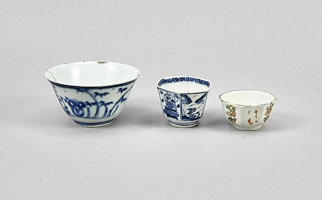 Three cups, China. 1x rou
