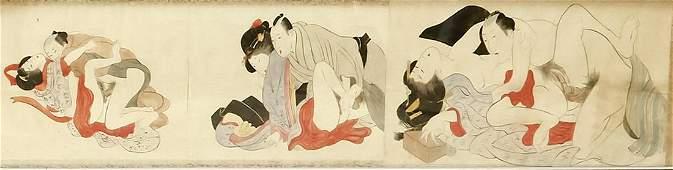 Shunga scroll painting, J