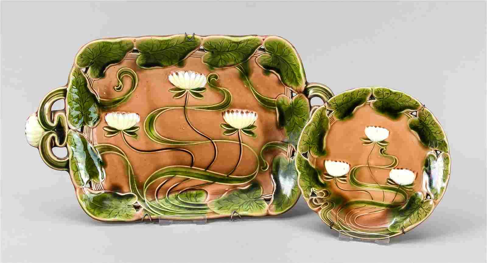 Two Art Nouveau pieces, Viller