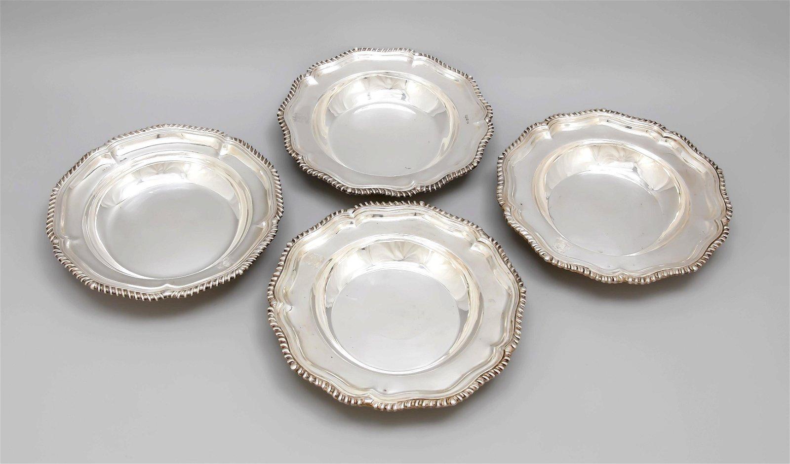 Four deep plates, England