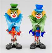 Two standing clowns, Ital