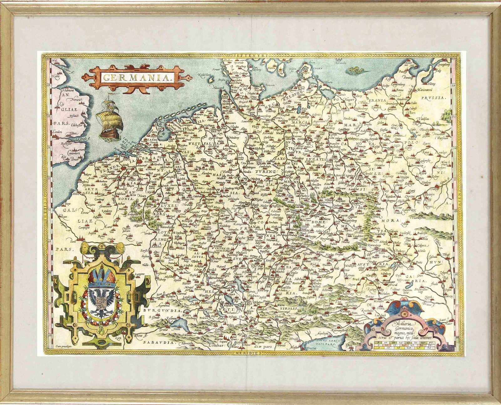 Historical map of Germany, cop