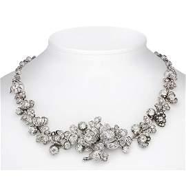 Old European cut diamond neckl