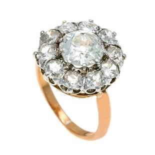 Old European cut diamond ring RG /