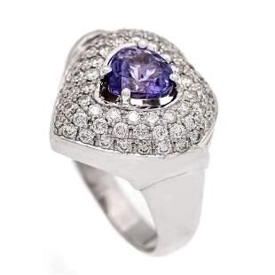 Tanzanite diamond ring WG 585/000