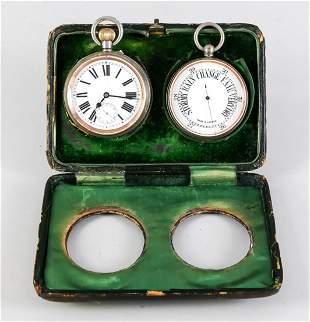 English travel watch and barometer