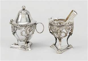 Two-piece empire set, early 19th c.