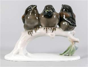 Group of sparrows, Rosenthal, art d