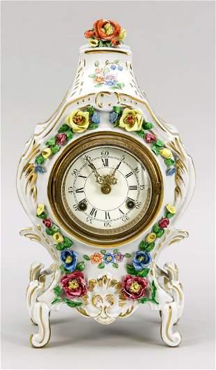Porcelain clock, Sandizell, Bavaria