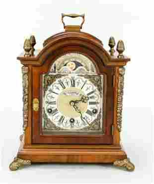 Table clock, 20th c., marked Warmin