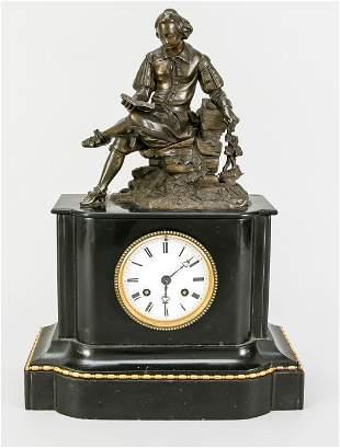 black marble pendulum, French. 2.h.