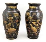 Pair of large baluster vases, Japan