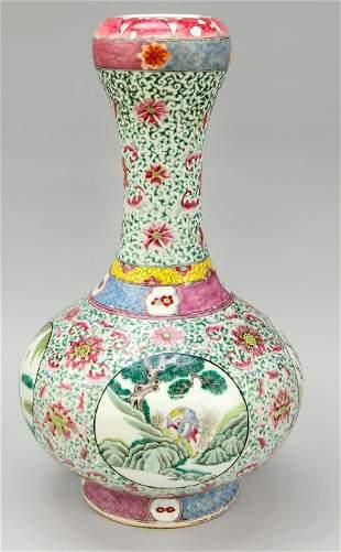Famille Rose vase, China, 18th cent