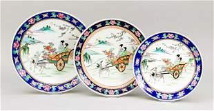 3 plates, Japan/China, 19th/20th c.