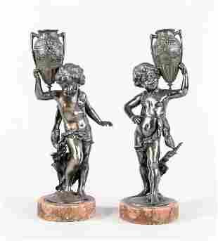 Pair of figural ornamental vases, 1