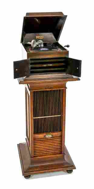 Gramophone with record cabinet, aro