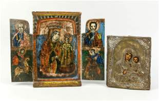 2 Icons, Russia, 19th c., 1 x Mothe
