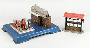 Steam engine with accessories, mid-