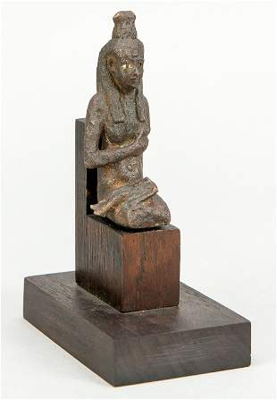Bronze statuette of Isis with Horus