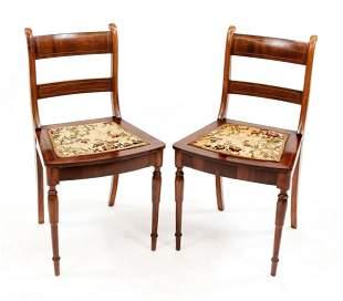 Pair of English filigree chairs ear