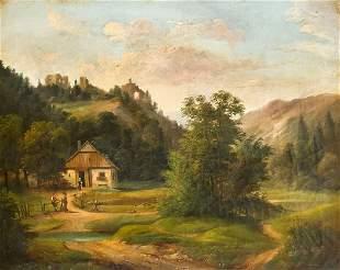 Julius Abbiati, Austrian painter of