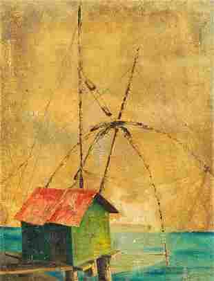 Italian painter c. 1960, fishi