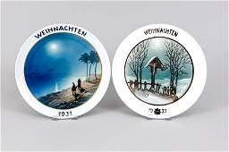 Two Christmas plates, Rosentha