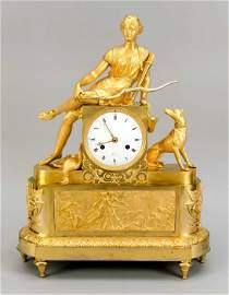 Figure pendulum fire gilded, p