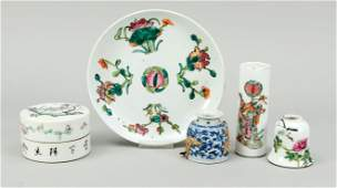 Small assemblage of porcelain,