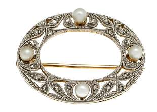 Art deco brooch GG 585/000 and