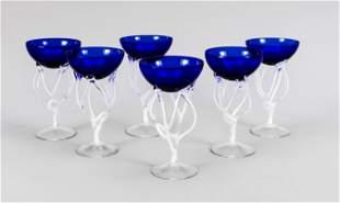 Six champagne bowls, 2nd half