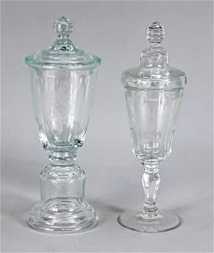 Two lidded goblets, early 20th