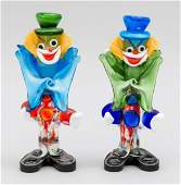 Two standing clowns, Italy, 20