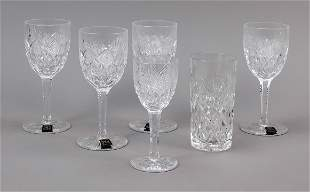 Set of six glasses, France, 2n