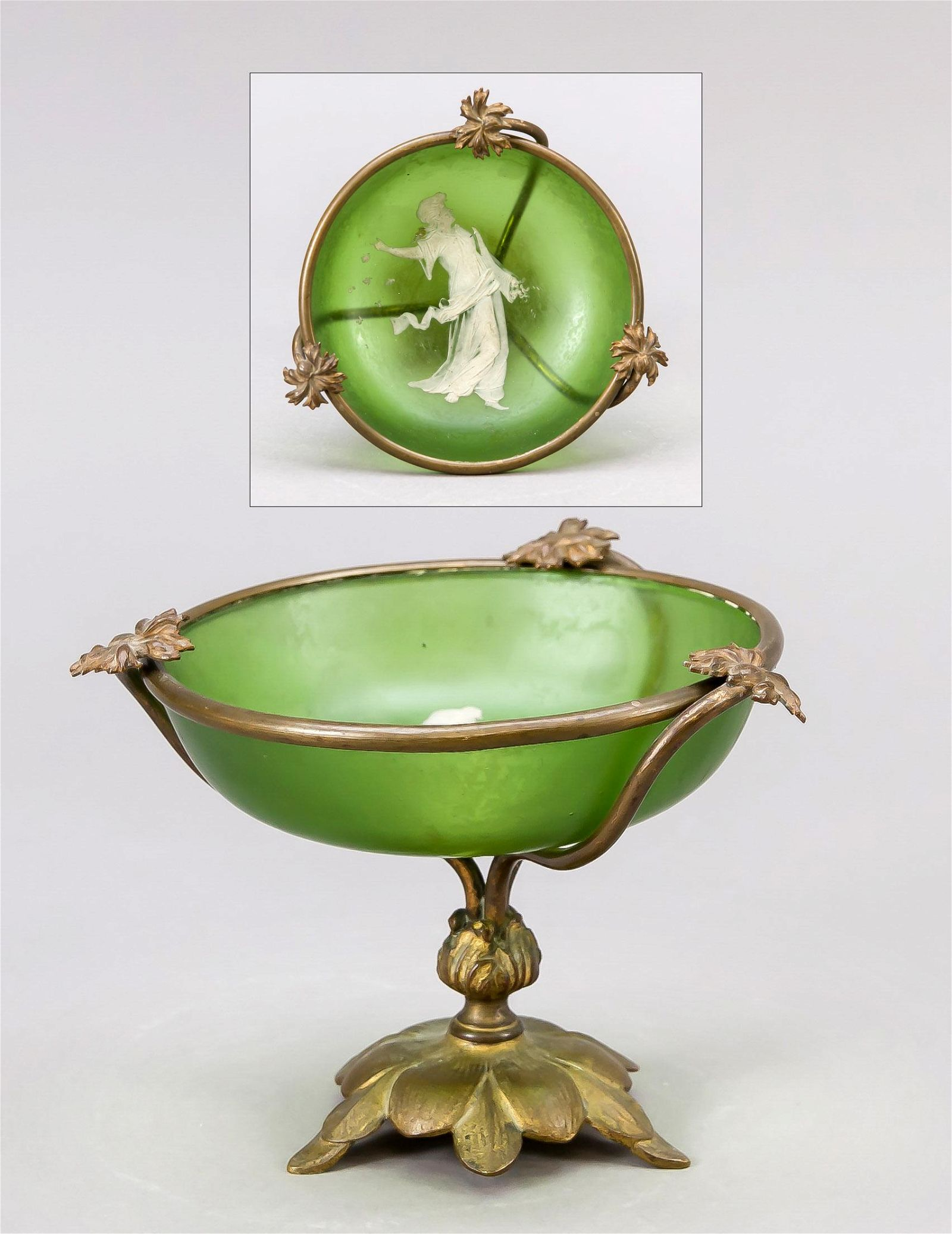 Small top bowl, c. 1900, brass