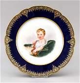 Portrait plate, Sevres, mark 1