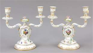 Pair of candlesticks, 2-flame,