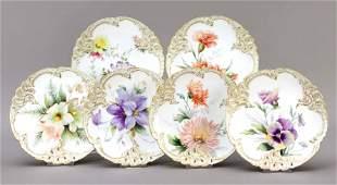 Six fruit plates, Nymphenburg,
