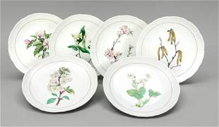 Six dessert plates, Nymphenbur