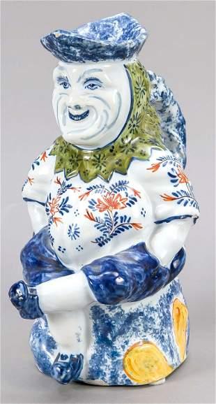 Figural ceramic jug, Holland,