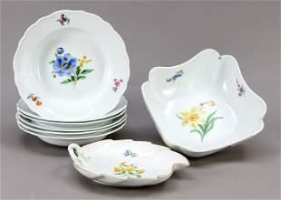 Set of eight pieces, Meissen,