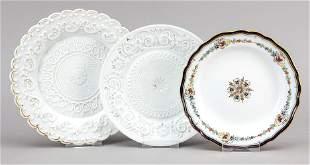 Three plates, Meissen, 19th/20