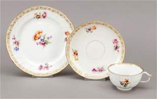 Three-piece tea set, KPM Berli