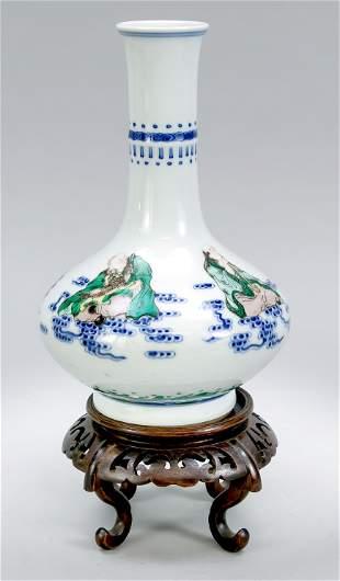 Famille Verte vase, China, 19t