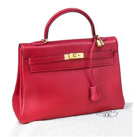 Hermes, Kelly Bag 35, ruby sof