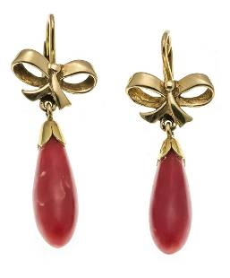Coral earrings GG 585/000 with