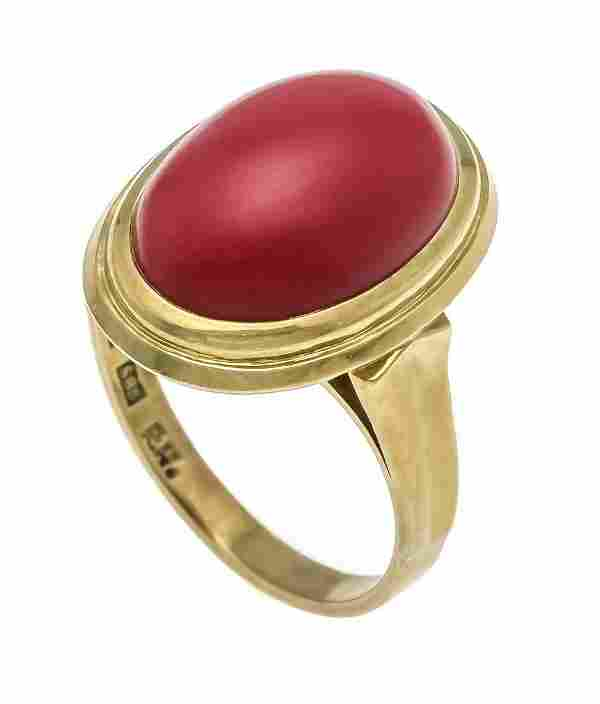 Coral ring GG 585/000 with an