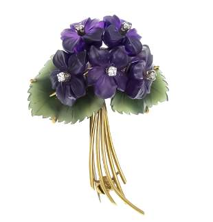Flower brooch GG 750/000 with