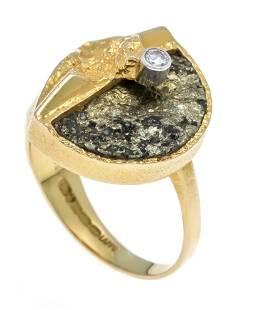 Brilliant ring GG 750/000 Lapp